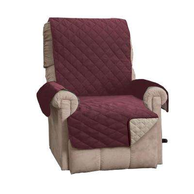 Kaylee Collection Oxblood Red Reversible Quilted Recliner Furniture Protector
