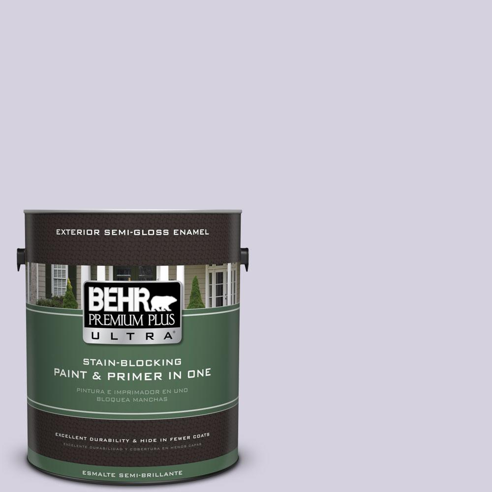 BEHR Premium Plus Ultra 1-gal. #650E-2 Lovely Lavender Semi-Gloss Enamel Exterior Paint