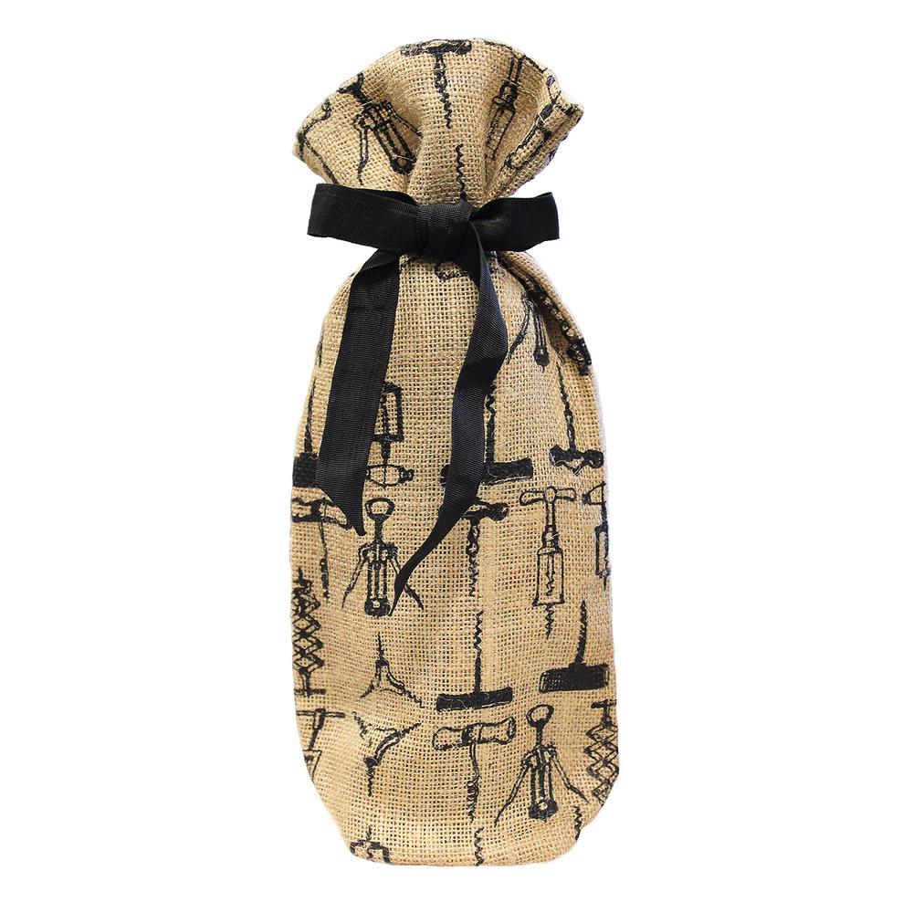 Epicureanist Jute Wine Bag (Set of 2) The Epicureanist Wine Bag is the ideal gift for any wine enthusiast. These wine totes are made out of 100% Jute, making them eco-friendly and re-usable. The material is durable and strong enough to safely carry your wine to any party.