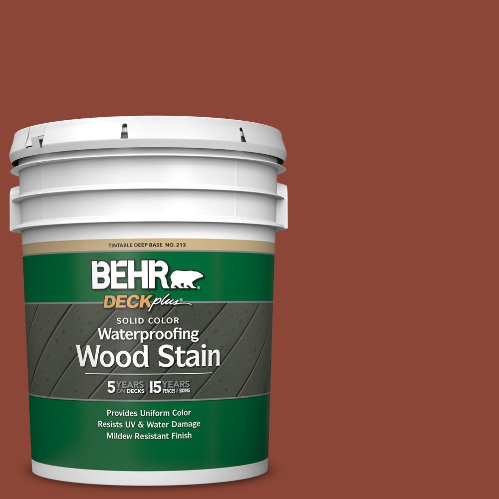 5 gal. #SC-330 Redwood Solid Waterproofing Exterior Wood Stain