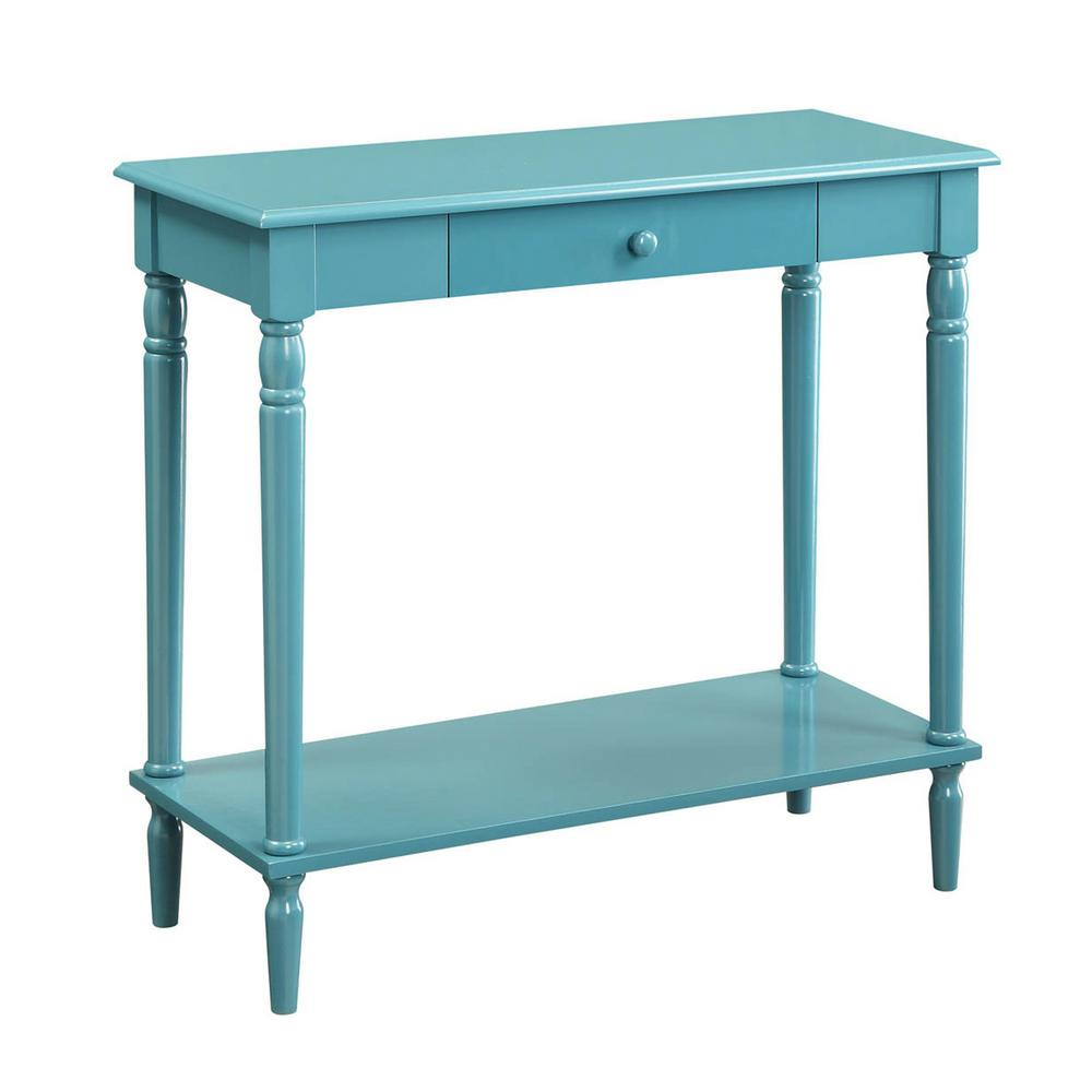French Country Blue Hall Table