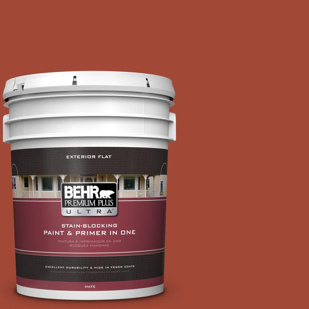 5-gal. #200D-7 Rodeo Red Flat Exterior Paint