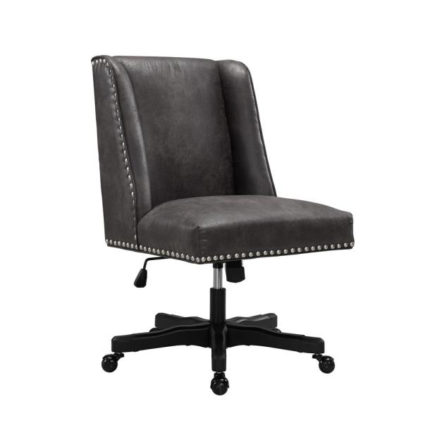Linon Home Decor Draper Gray Office Chair