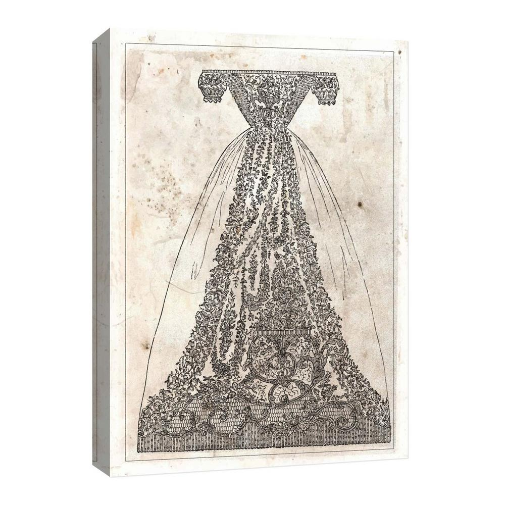 PTM Images 10''Vintage Dress'' Canvas Wall Art, Multicolored was $97.99 now $34.73 (65.0% off)