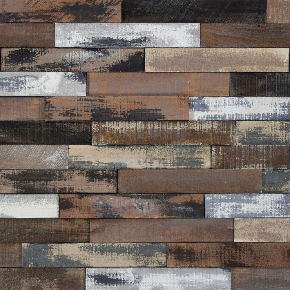 Deco Planks Weathered Brown 1/2 in. Thick x 2 in. Wide