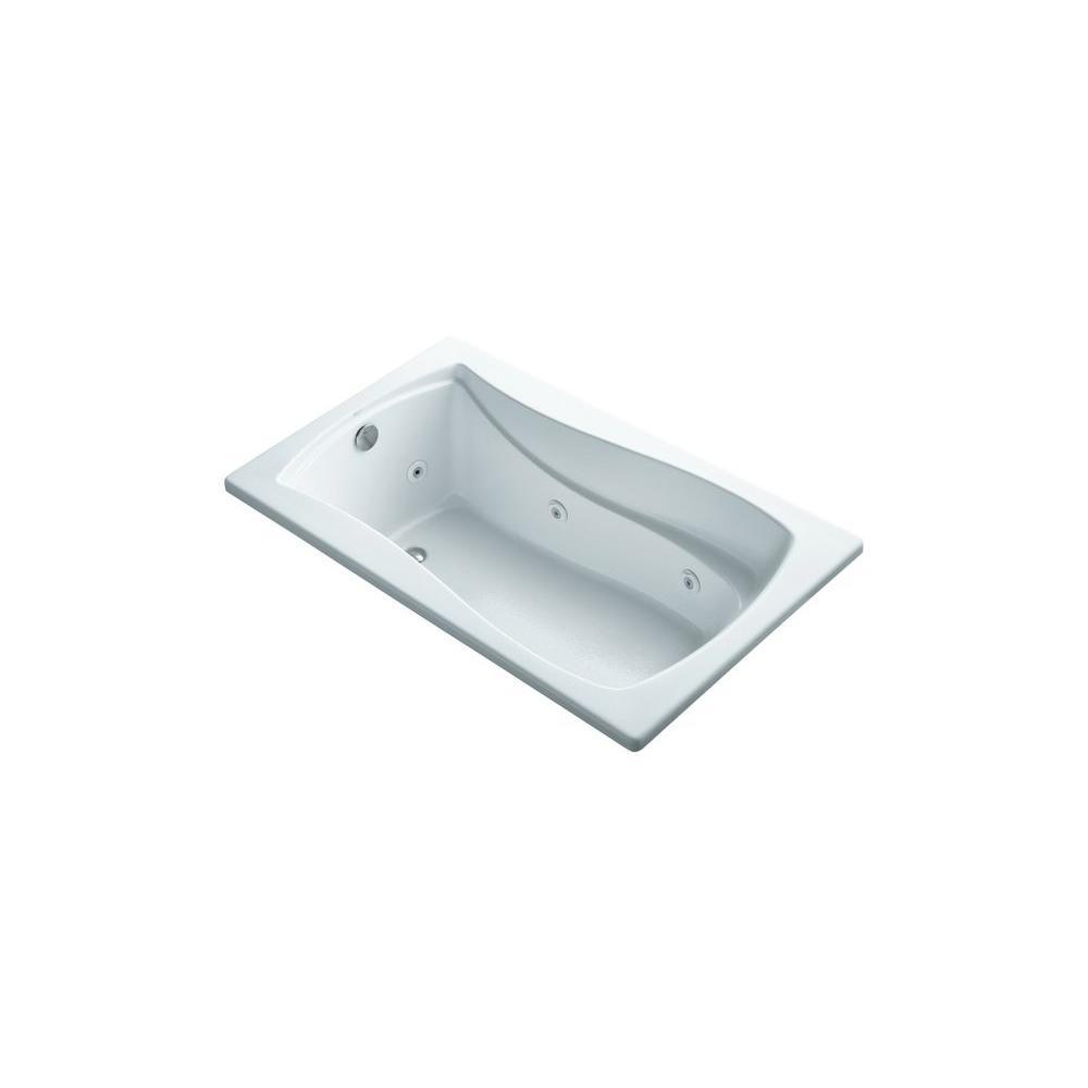 KOHLER Mariposa 5 ft. Air Bath Tub in White-K-1239-W1-0 - The Home Depot