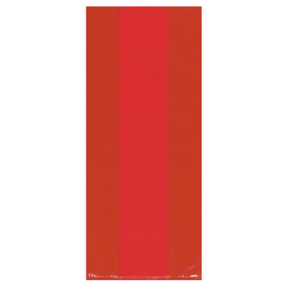 9.5 in. x 4 in. Apple Red Cellophane Party Bags (25-Count,