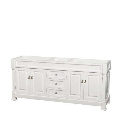 Andover 80 in. W x 22.25 in. D Bath Vanity Cabinet Only in White