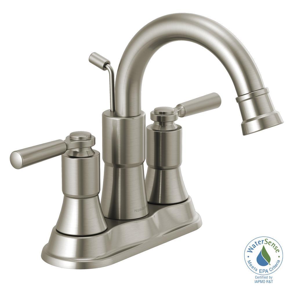 Westchester 4 in. Centerset 2-Handle Bathroom Faucet in Brushed Nickel