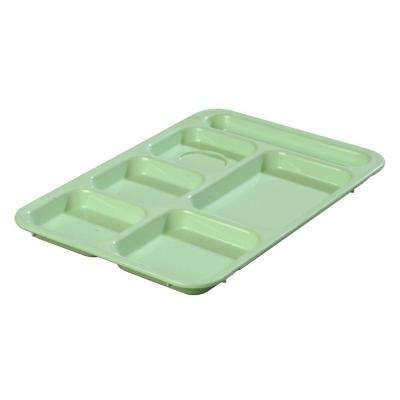 14.37x10 in. ABS Plastic Right Hand 6-Compartment Tray in Green (Case of 24)