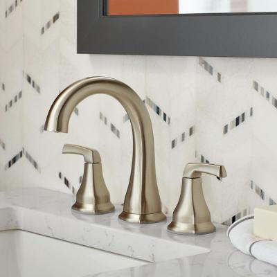 Portwood 8 in. Widespread 2-Handle Bathroom Faucet in SpotShield Brushed Nickel