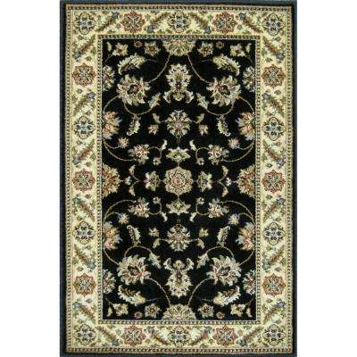 Kazmir Black 3 ft. x 4 ft. Area Rug