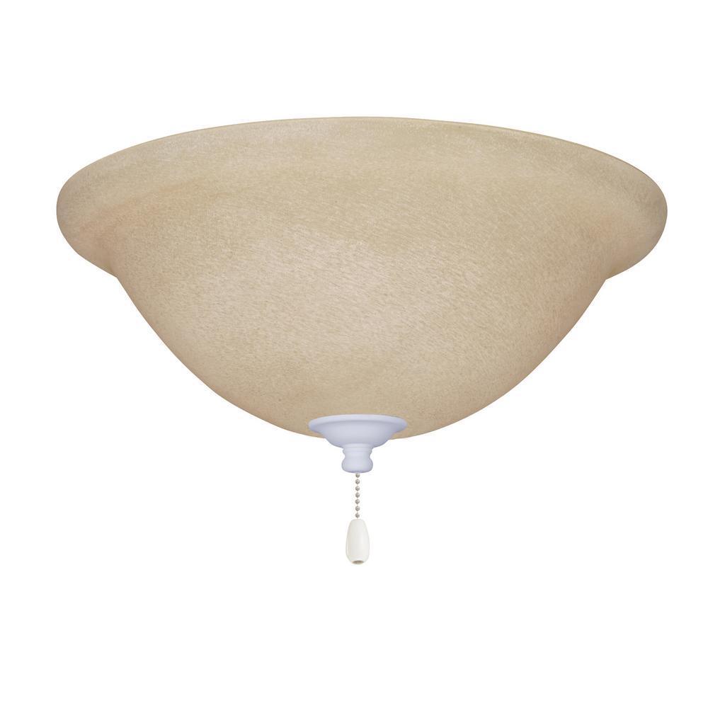 Amber Mist 3-Light Satin White Ceiling Fan Light Kit