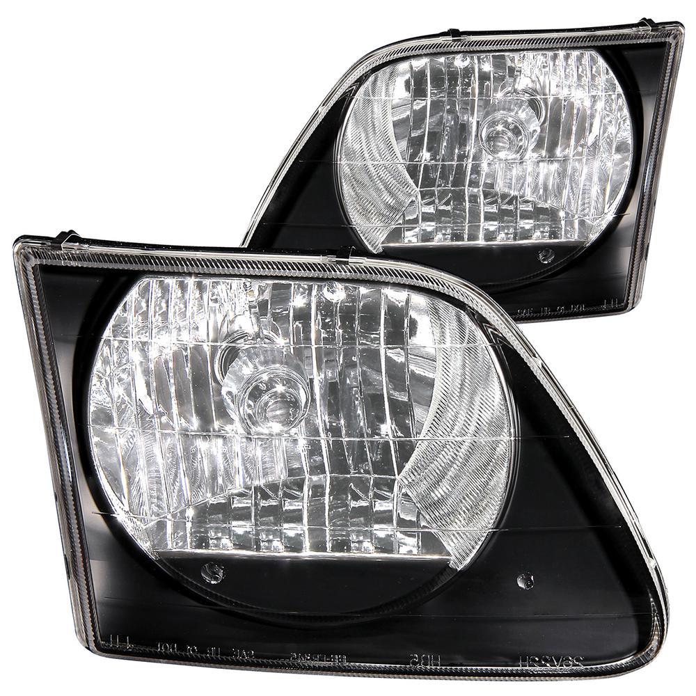 1997.5-2003 Ford F-150 Crystal Headlights Black G2