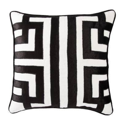 Ordella White/ Black Geometric Poly Throw Pillow 22 inch