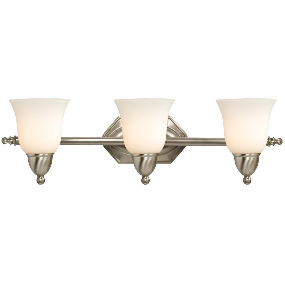Filament Design Negron 3-Light Brushed Nickel Incandescent Bath Vanity