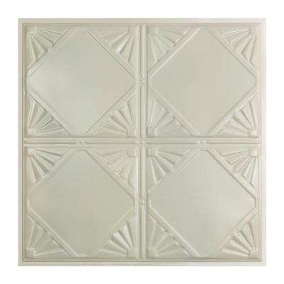 Erie 2 ft. x 2 ft. Lay-in Tin Ceiling Tile in Antique White