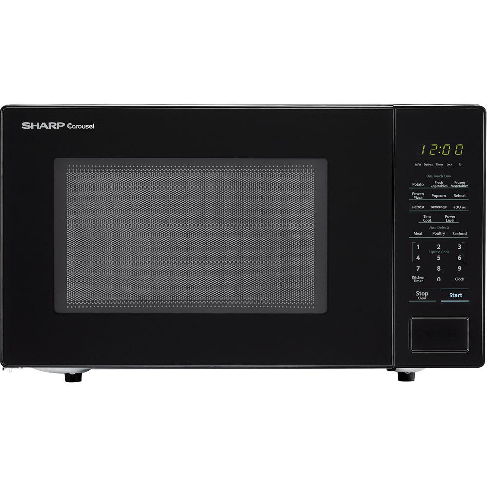 Sharp Carousel 1.1 cu. ft. 1000-Watt Countertop Microwave Oven in Black (ISTA 6 Packaging)