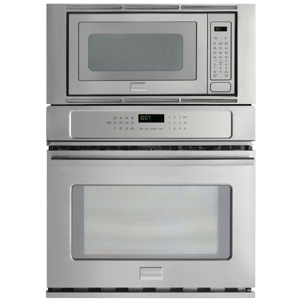 Frigidaire Professional 27 in. Electric Convection Wall Oven with Built-In Microwave in Stainless Steel