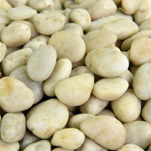 0.40 cu. ft. 3/8 in. - 5/8 in. 10 lbs. White Small Polished Rock Pebbles for Planters, Gardens, Aquariums and More