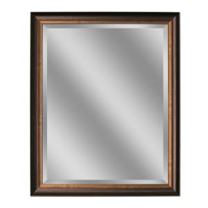 Deco Mirror 40 In L X 28 In W Framed Wall Mirror In Oil Rubbed Bronze 8922 The Home Depot