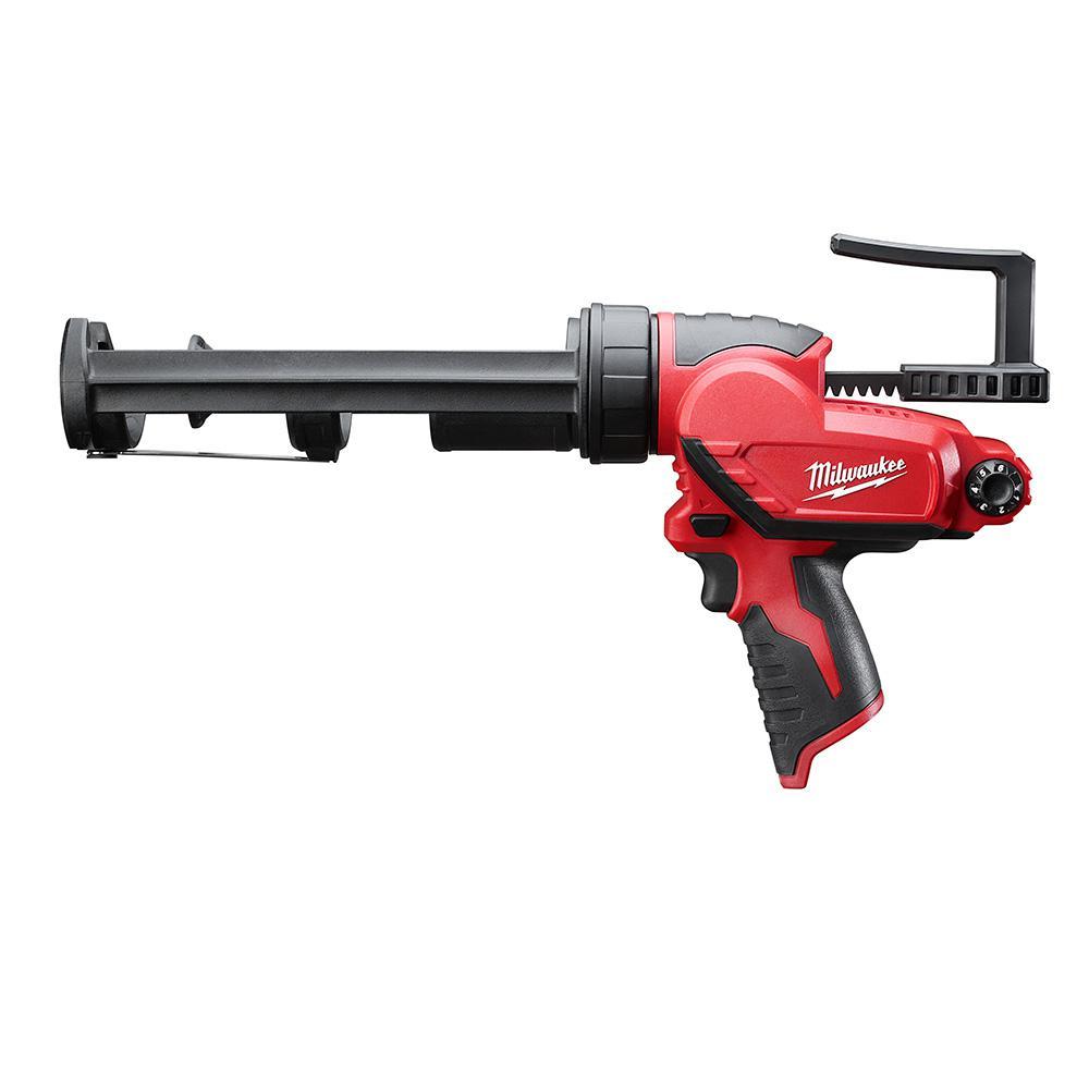 Milwaukee M12 12-Volt Lithium-Ion Cordless 10 oz. Caulk and Adhesive Gun (Tool-Only)
