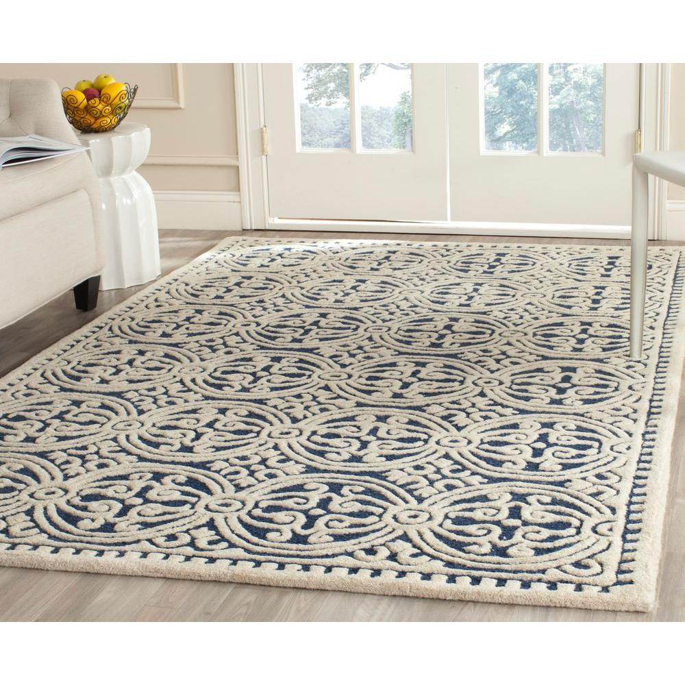 Safavieh Cambridge Navy Blue Ivory 10 Ft X 14 Area Rug