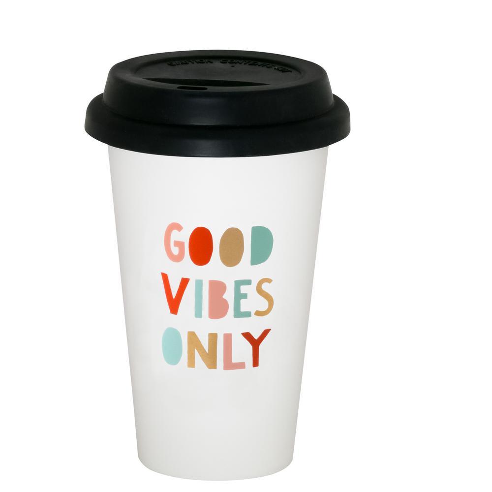 (10.5 oz.) Good Vibes Only thermal mug