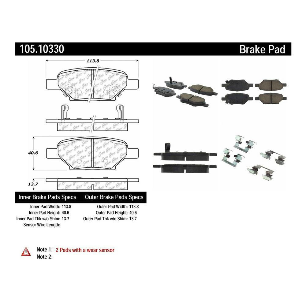 Centric Parts Disc Brake Pad Set
