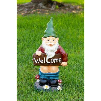 Mooning Welcome Gnome with Pants Down Statue