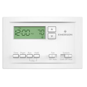 Emerson Single Stage 5-1-1 Day Programmable Thermostat-P210 - The Home Depot