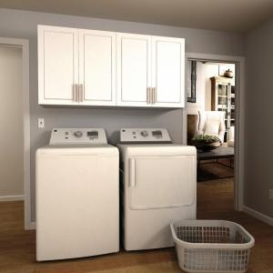 Delicieux W White Laundry Cabinet Kit ENL60A MPW   The Home Depot