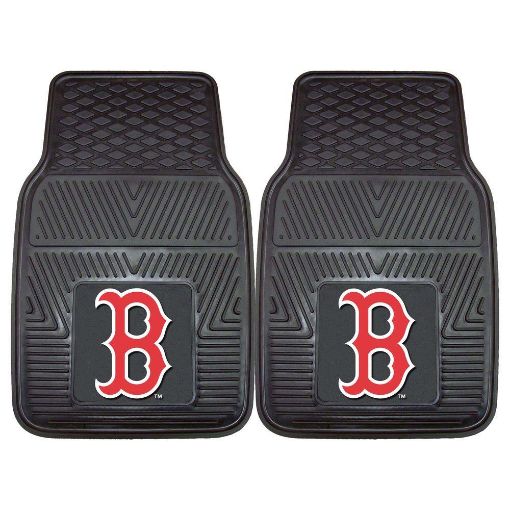 Fanmats Boston Red Sox 18 In X 27 In 2 Piece Heavy Duty