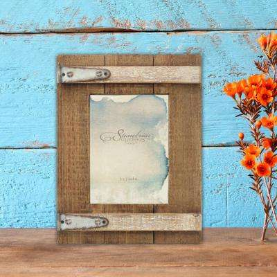 1-Opening 5 in. X 7 in. Brown Wooden Picture Frame