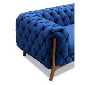 Marvelous Todays Mentality Allison Dark Blue Tufted Loveseat Andrewgaddart Wooden Chair Designs For Living Room Andrewgaddartcom