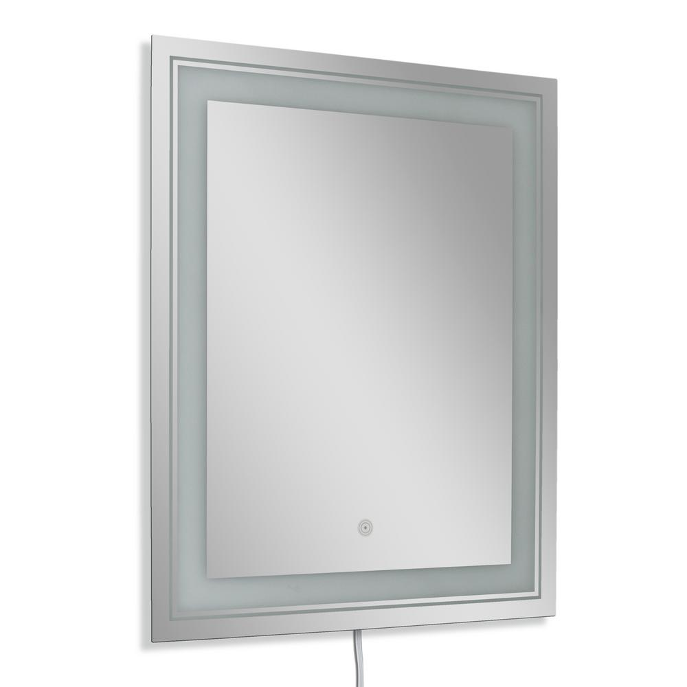 26 in. W x 32 in. H Single Frosted Rectangle LED