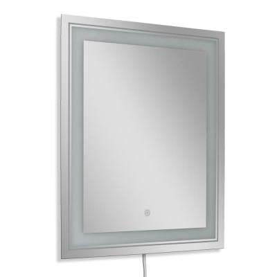 26 in. W x 32 in. H Single Frosted Rectangle LED Mirror