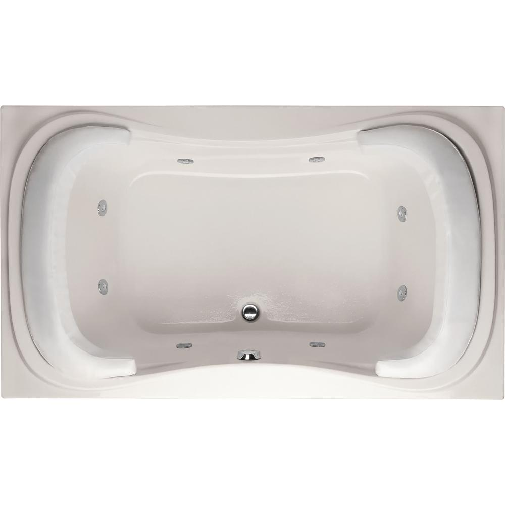 Hydro Systems Lancing 6 ft. Reversible Drain Whirlpool Tub in ...