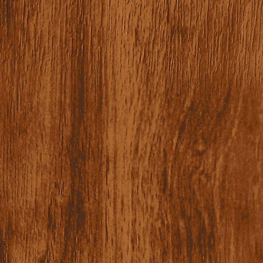 TopTile English Walnut Woodgrain Ceiling and Wall Plank - 5 in. x 7.75 in. Take Home Sample