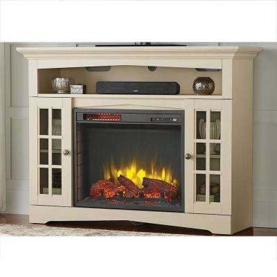Avondale Grove 48 in. TV Stand Infrared Electric Fireplace in Aged White
