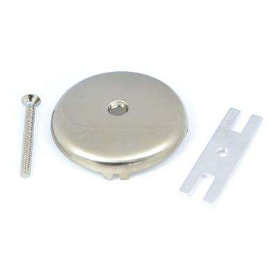 Pegasus Bath Drain Faceplate with Screw in Brushed Nickel