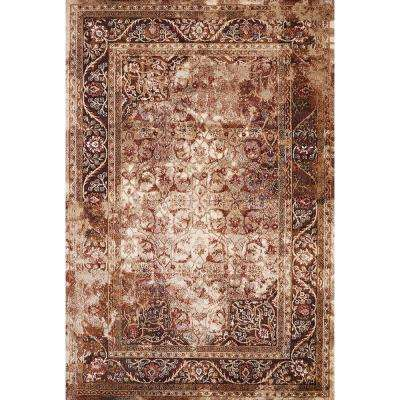 Jules Camelot Brown 8 ft. x 11 ft. Area Rug