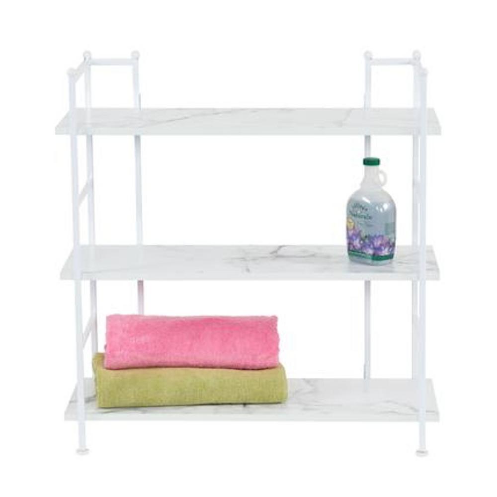 30.9 in. H x 29.9 in. W x 12.6 in. D, Wide, Steel frame with Laminate Shelves, 3 Shelf Rack