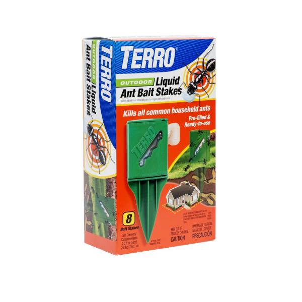 Outdoor Liquid Ant Killer Bait Stakes (8-Count)