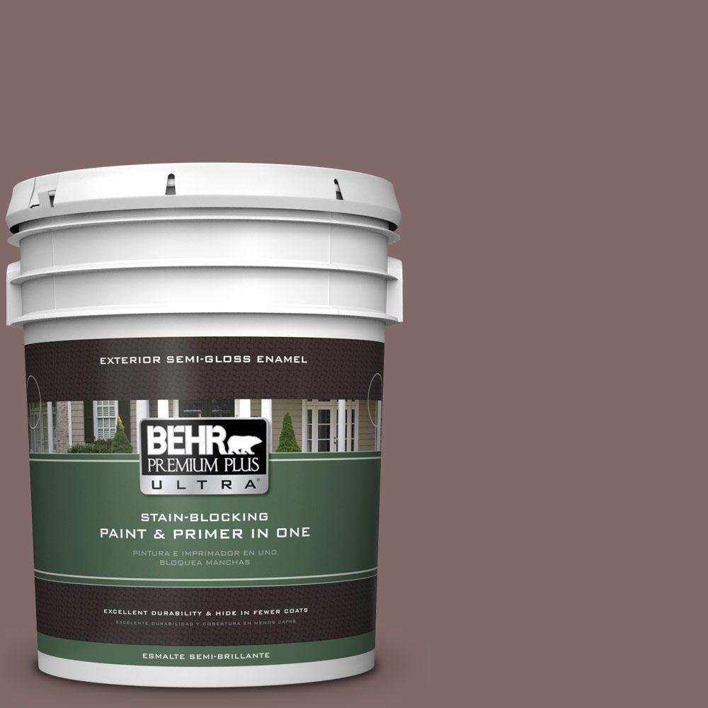 BEHR Premium Plus Ultra 5-gal. #N120-6 Raisin in the Sun Semi-Gloss Enamel Exterior Paint
