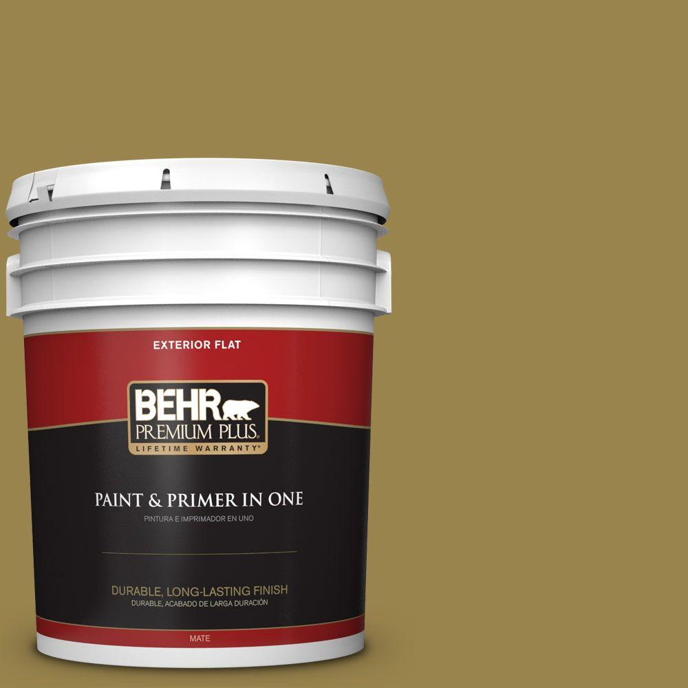 BEHR Premium Plus 5-gal. #T11-17 Wishing Troll Flat Exterior Paint