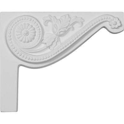 3/4 in. x 8 in. x 6-1/2 in. Polyurethane Right Pearl Stair Bracket Moulding