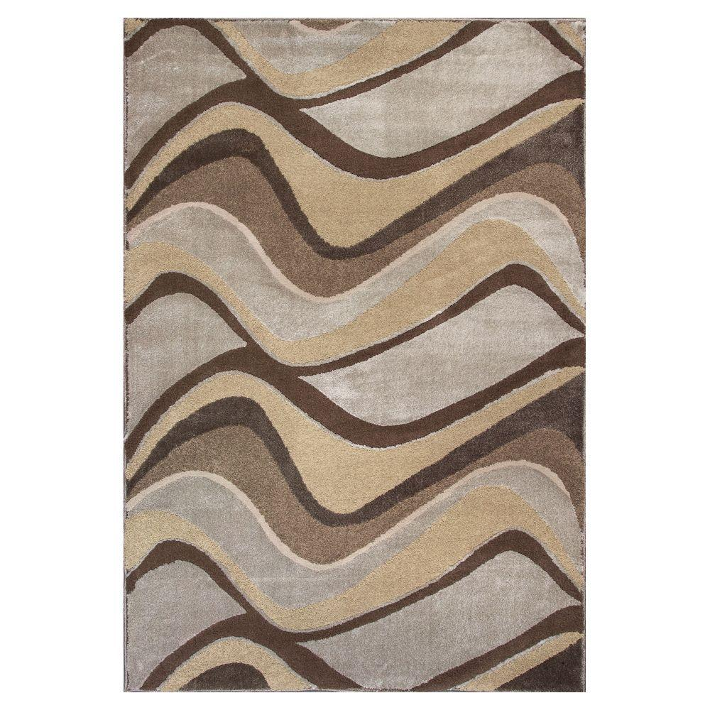 Donny Osmond Home Metallic Visions Silver 5 ft. 3 in. x 7 ft. 8 in. Area Rug