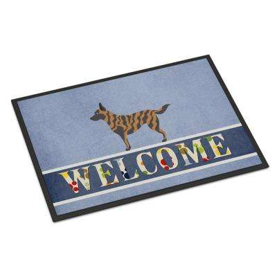 18 in. x 27 in. Indoor/Outdoor Dutch Shepherd Welcome Door Mat