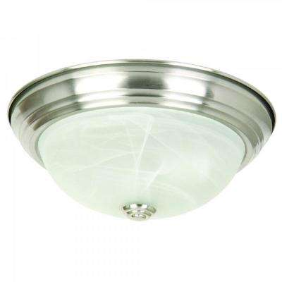 2-Light Satin Nickel Flushmount